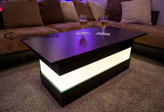 Mirage LED Coffee Table - Black Finish