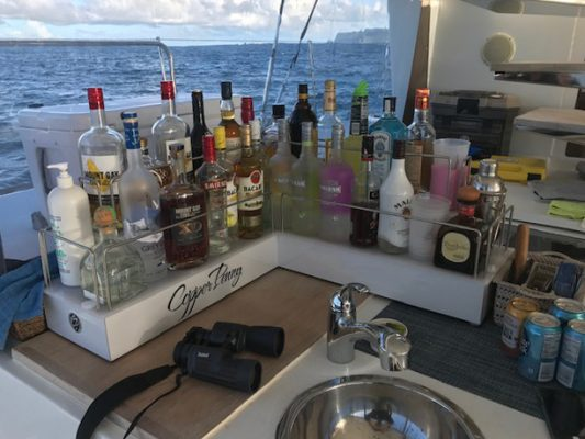 Outdoor Yacht Liquor Shelves