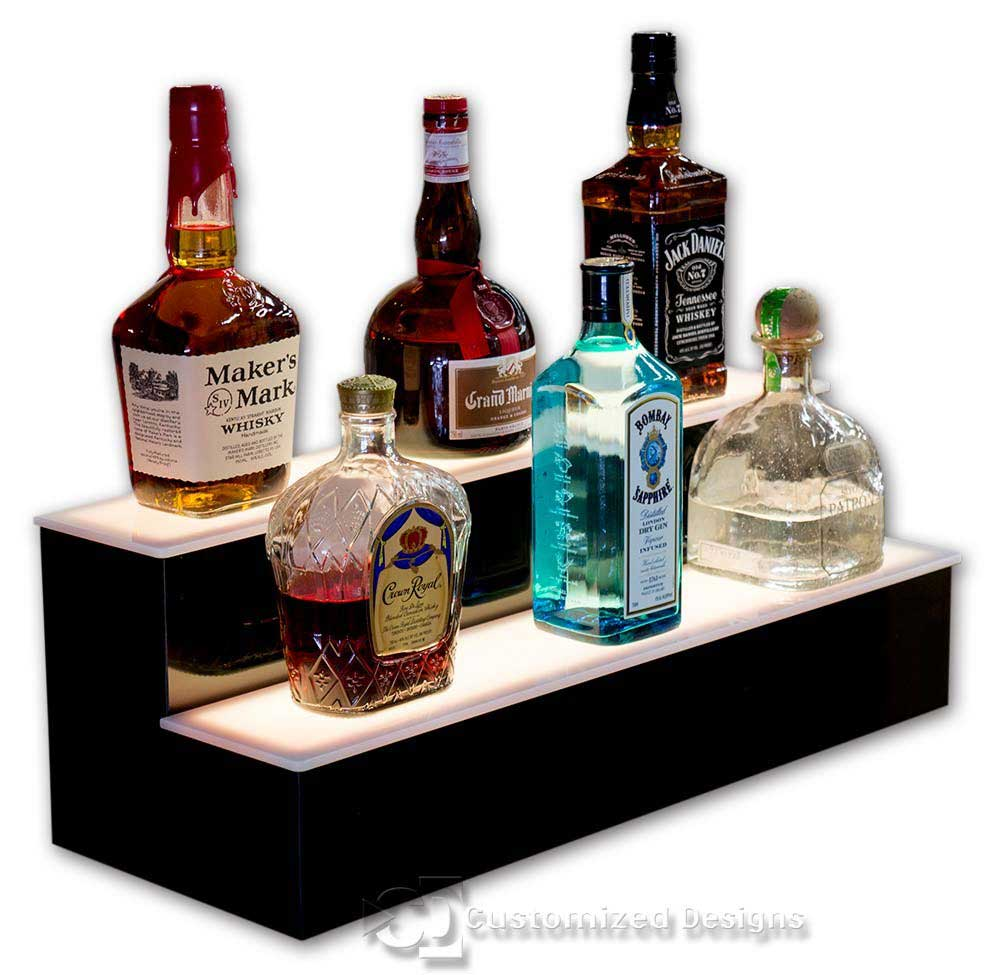 2 Tier Liquor Bottle Display