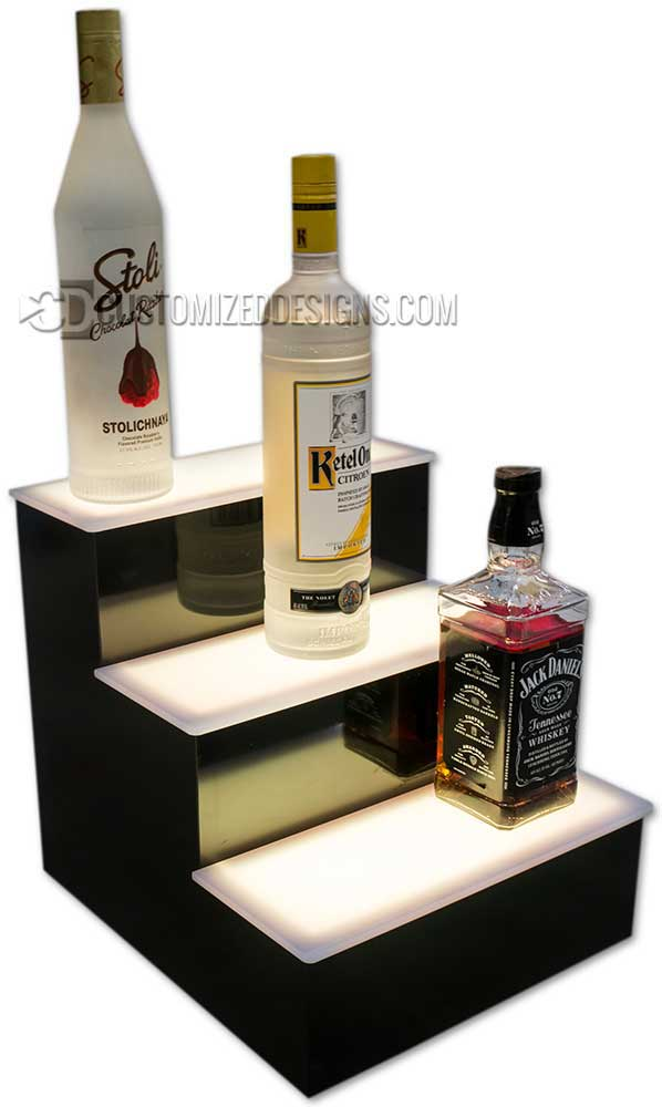 "12"" 3 Tier Liquor Bottle Display"
