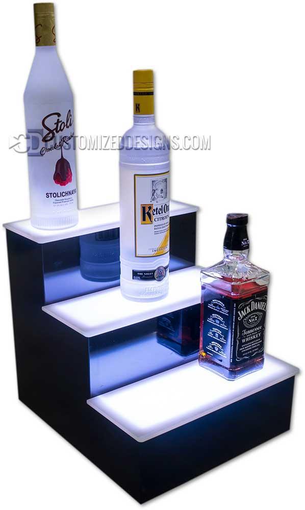"""12"""" 3 Tier Liquor Bottle Display"""