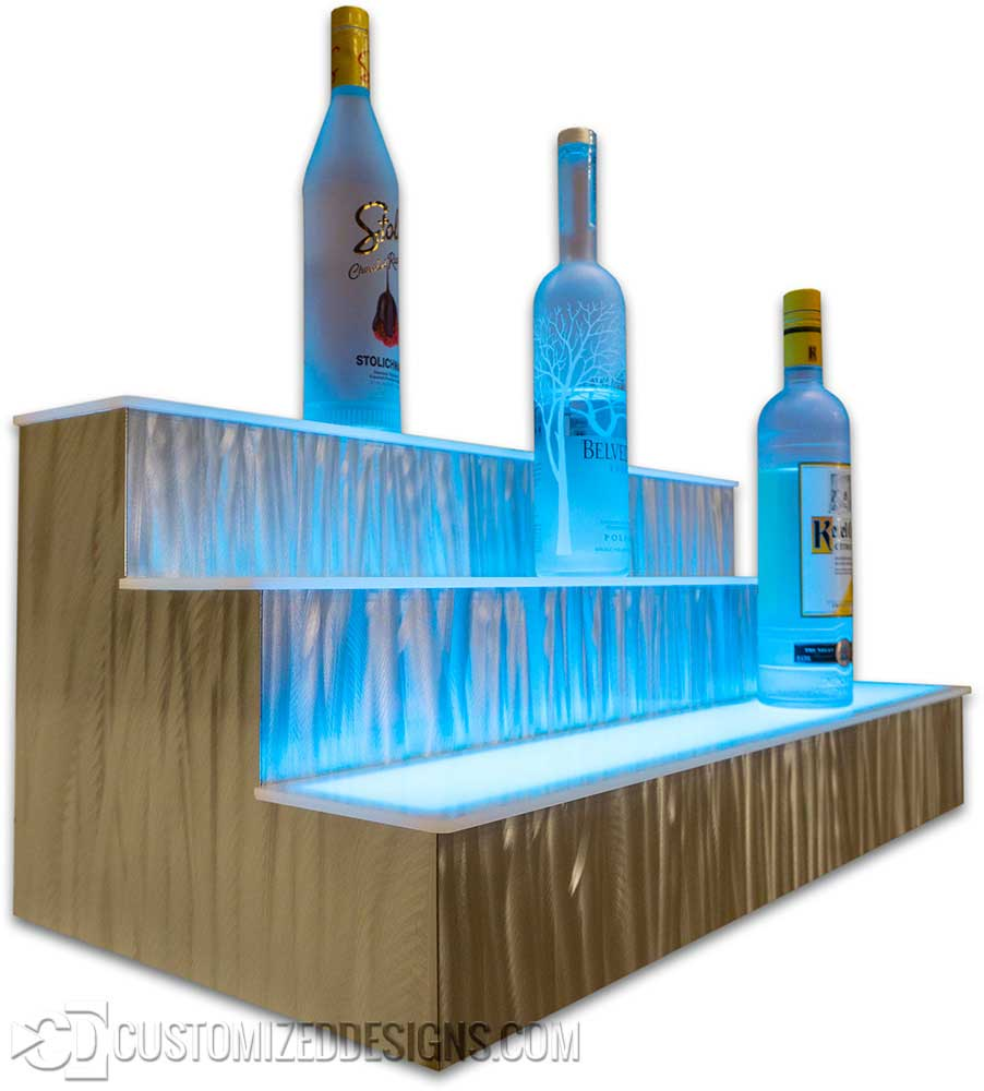 3 Tier Liquor Shelf Grasshopper Metal Finish