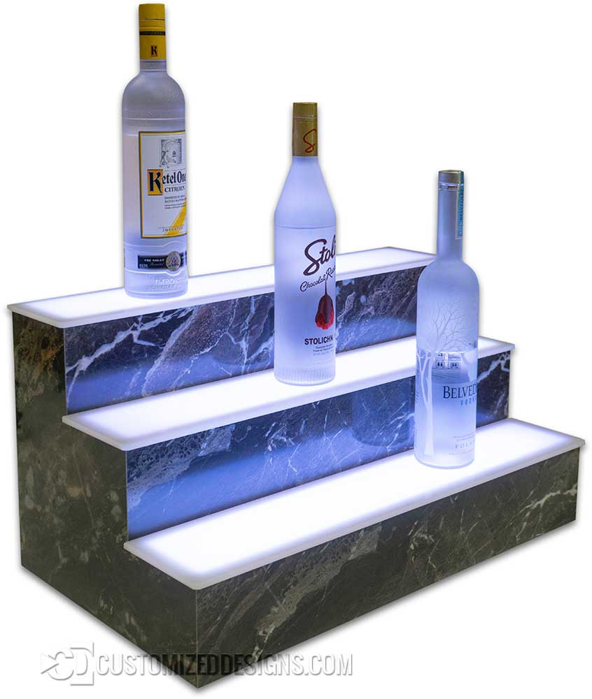 3 Tier Bottle Display - Man On The Moon Stone Finish
