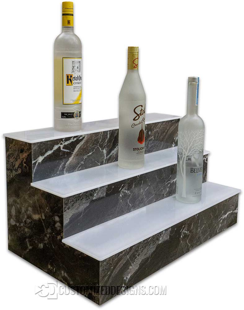 3 Tier Display Shelves - Man On The Moon Stone Finish