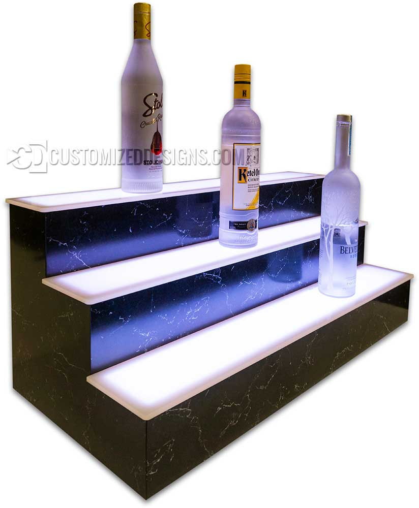 Lighted Display Shelving Pyrenees Marble