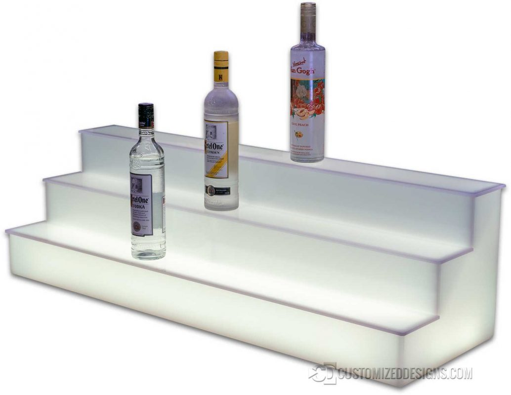 3 Tier All Acrylic Liquor Tiers