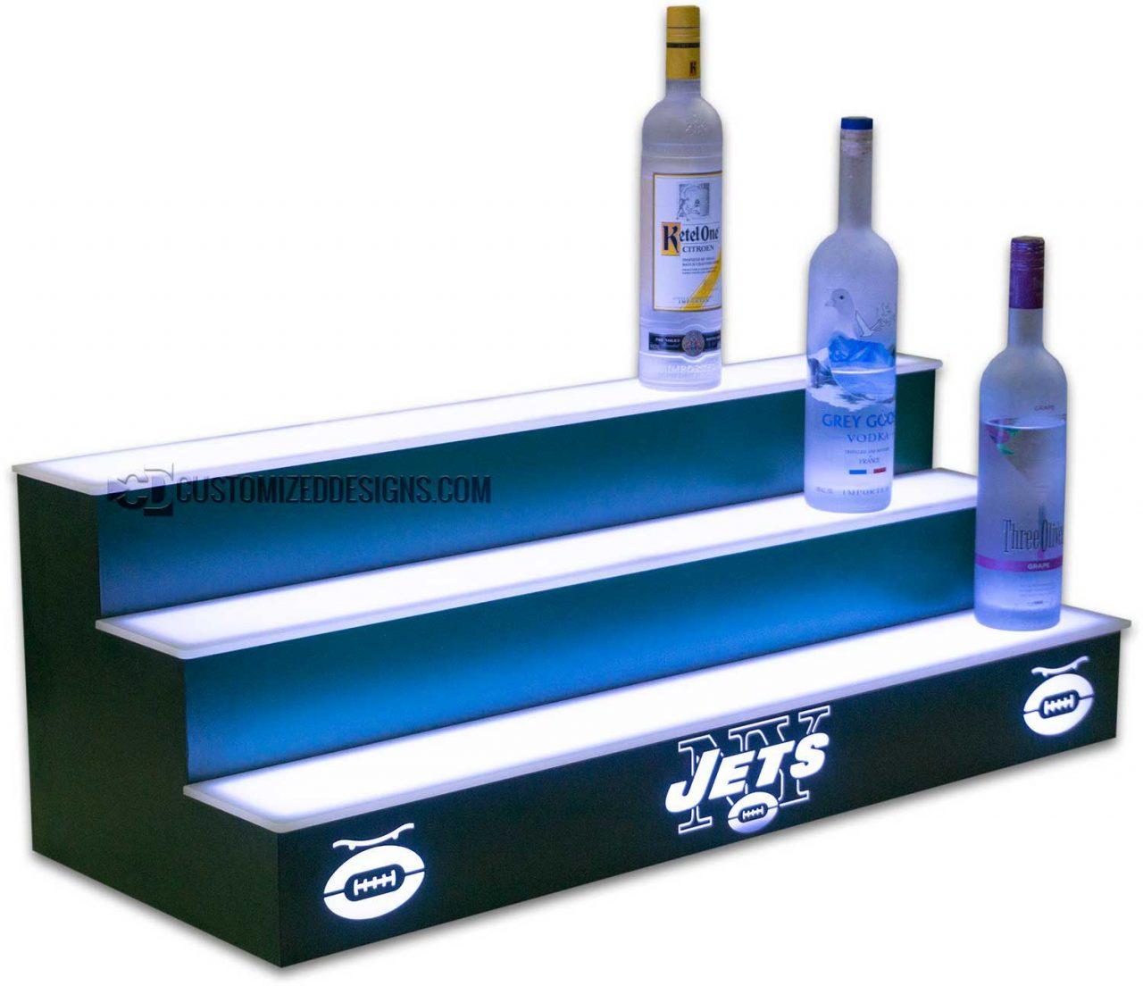 New York Jets Liquor Display w/ Hunter Green Finish