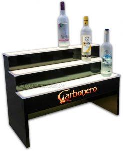3 Tier Raised Liquor Display w/ 8