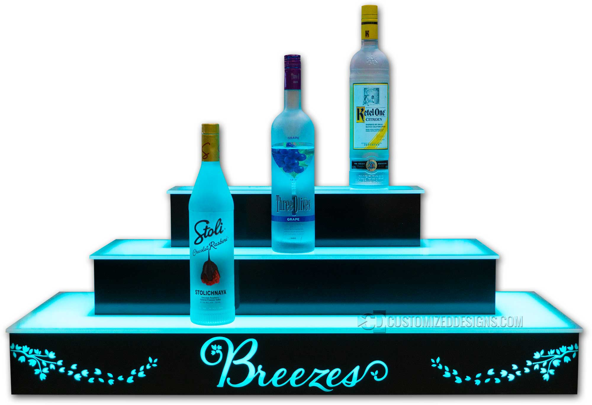 3 Tier Wrap Bottle Display - Breezes