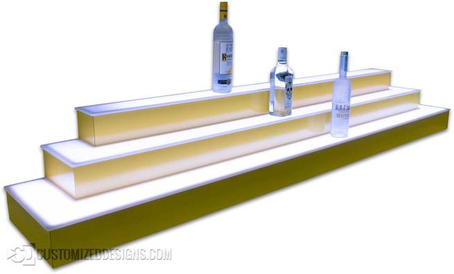 Liquor Display Wrap Style - Yellow Finish