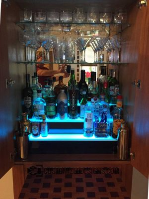 3 Tier Home Bar Liquor Display