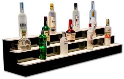 Bar Shelves, Liquor Displays & bottle shelving for home bars