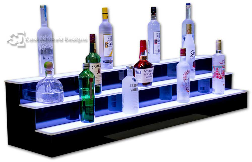 3 Tier 5' Commercial Back Bar Liquor Display