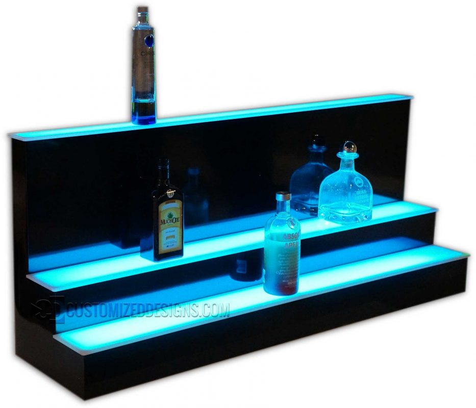 Custom High Profile 3 Tier Liquor Display