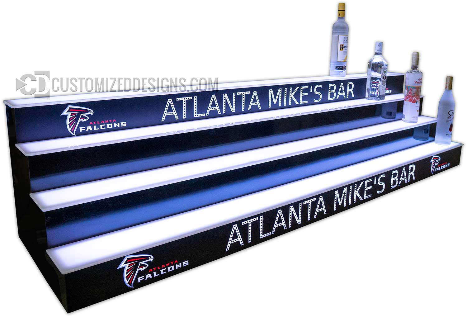 Atlanta Falcons 4 Tier Liquor Bottle Shelving