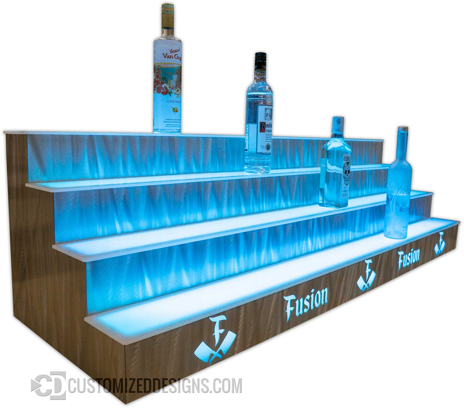 4 Tier Bottle Display w/ Grasshopper Metal Finish