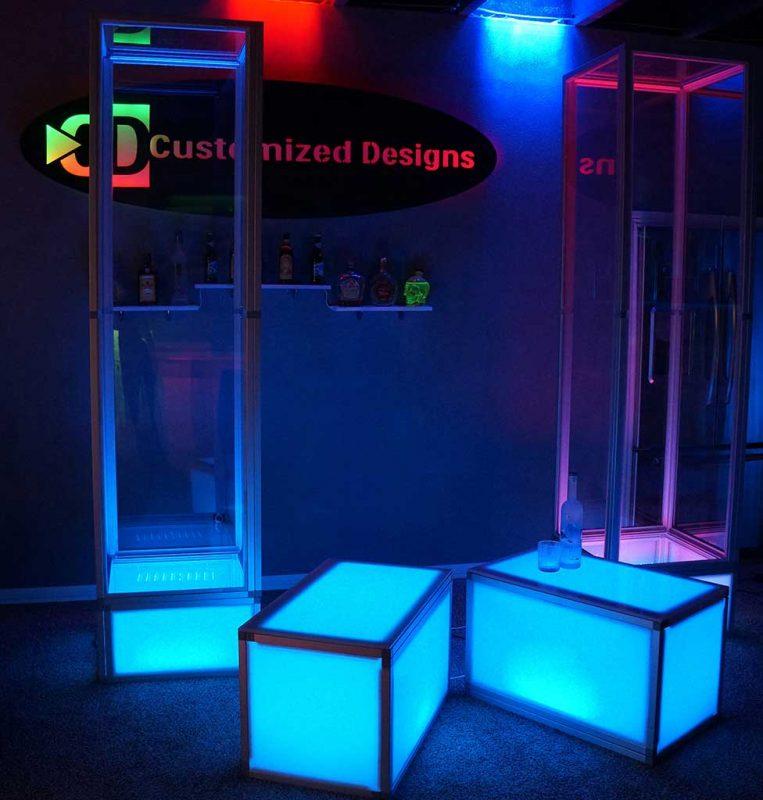 Custom Modular LED Columns