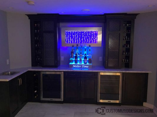 Modern Stainless Home Wet Bar
