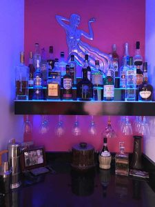 3 Step LED Lighted Bar Shelves