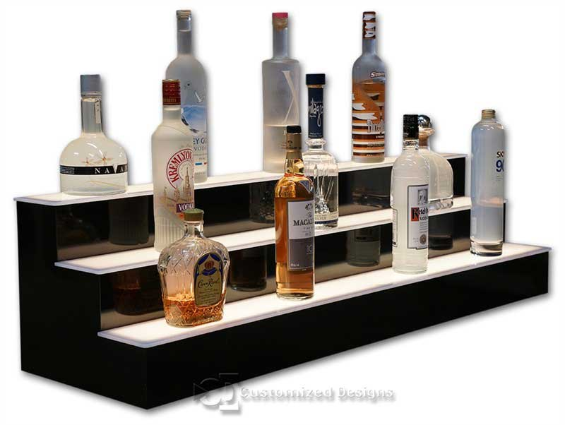 3 Tier LED Lighted Liquor Display