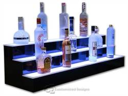 3 Tier LED Lighted Bar Shelves