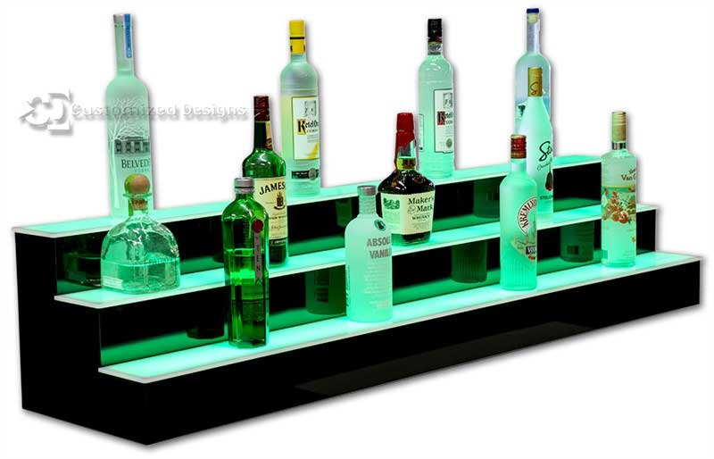 6' Length LED Lighted Bar Shelving