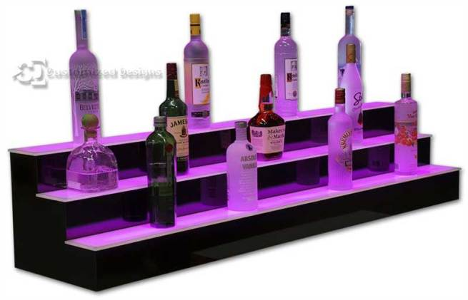 6' Wide Bar and Nightclub Liquor Display