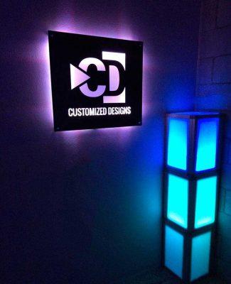 Lighted Backlit Sign