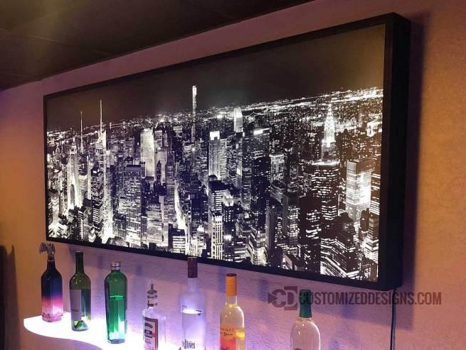 Framed Backlit Art