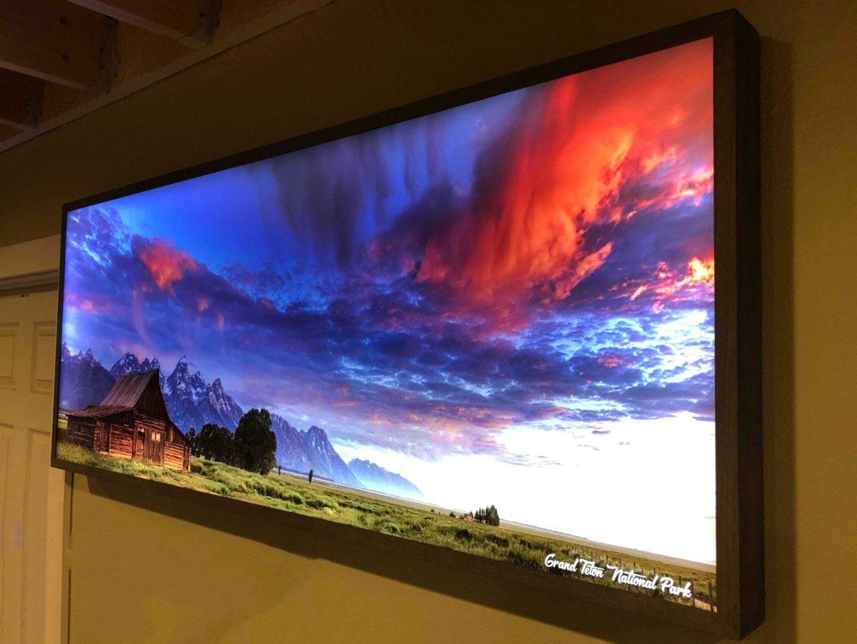 Lighted Landscape Picture