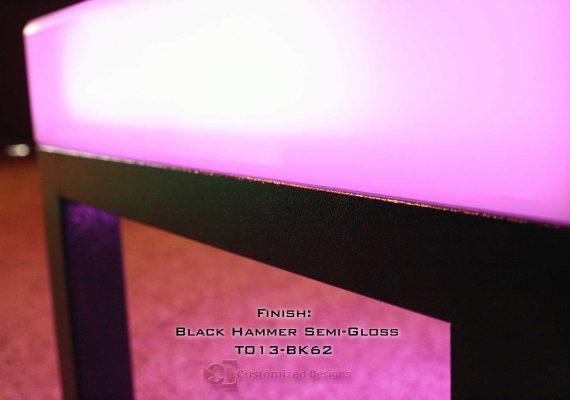Black Hammered Powder Coating
