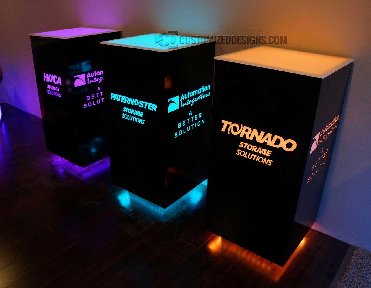 Branded Cubix Tables 20 x 20 x 42 H