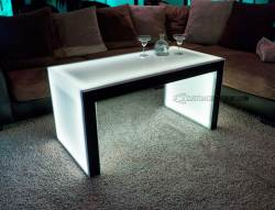 Carbon Series Ultra Modern LED Coffee Table - Shown with Black Finish - 24