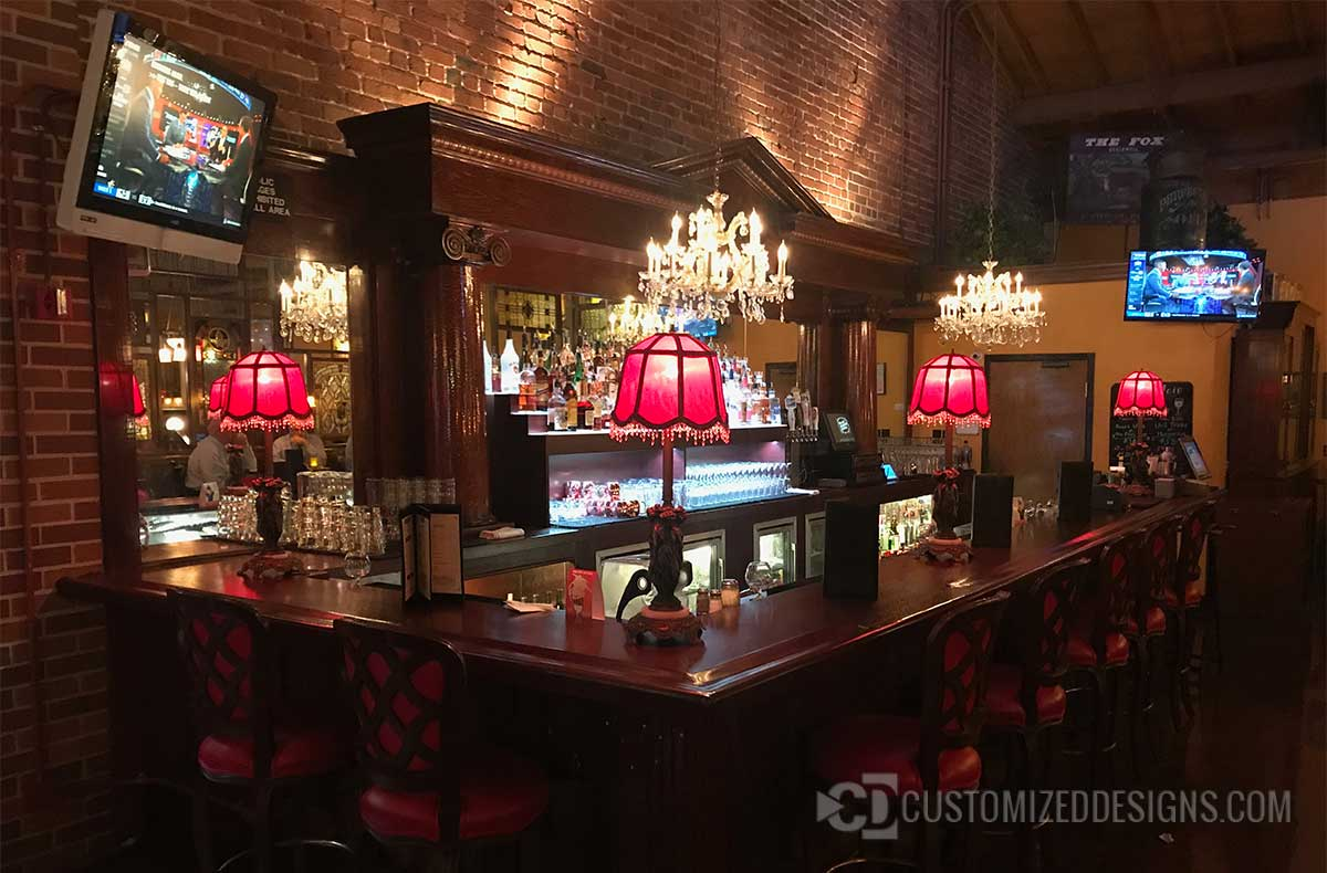 Commercial Back Bar with Lighted Liquor Display