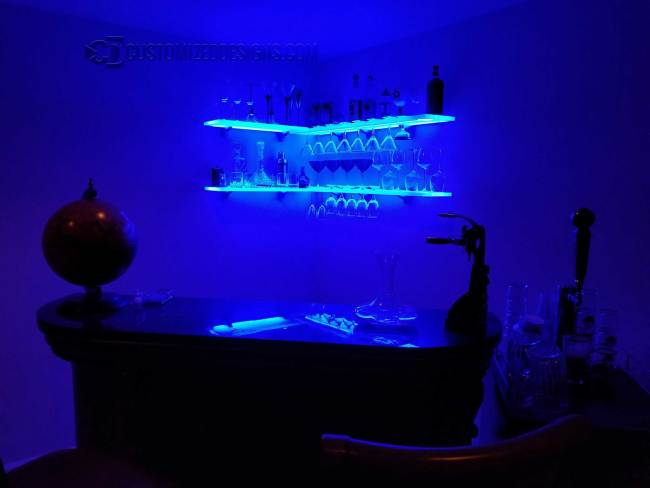 Corner Wine Glass Shelving