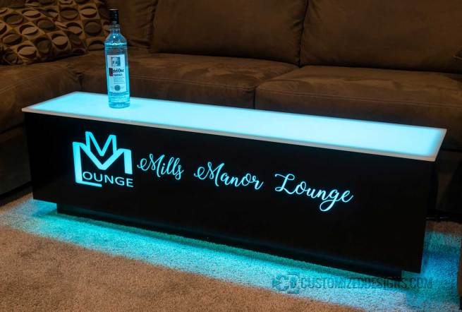 Cubix LED Coffee Table - 52x12x12