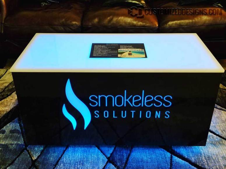 Cubix LED Coffee Table 48x24x24 - Smokeless Solutions