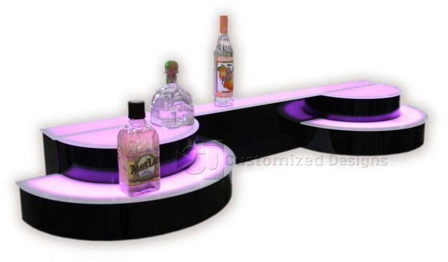 Custom Curved Liquor Display
