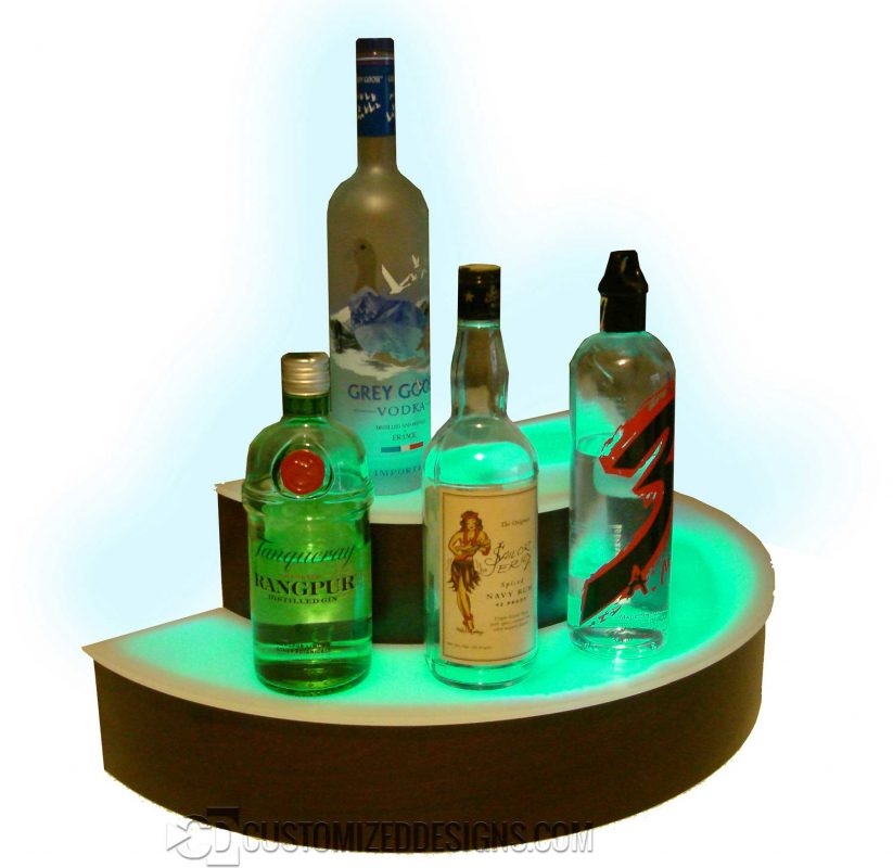 Curved Half Circle Liquor Shelves