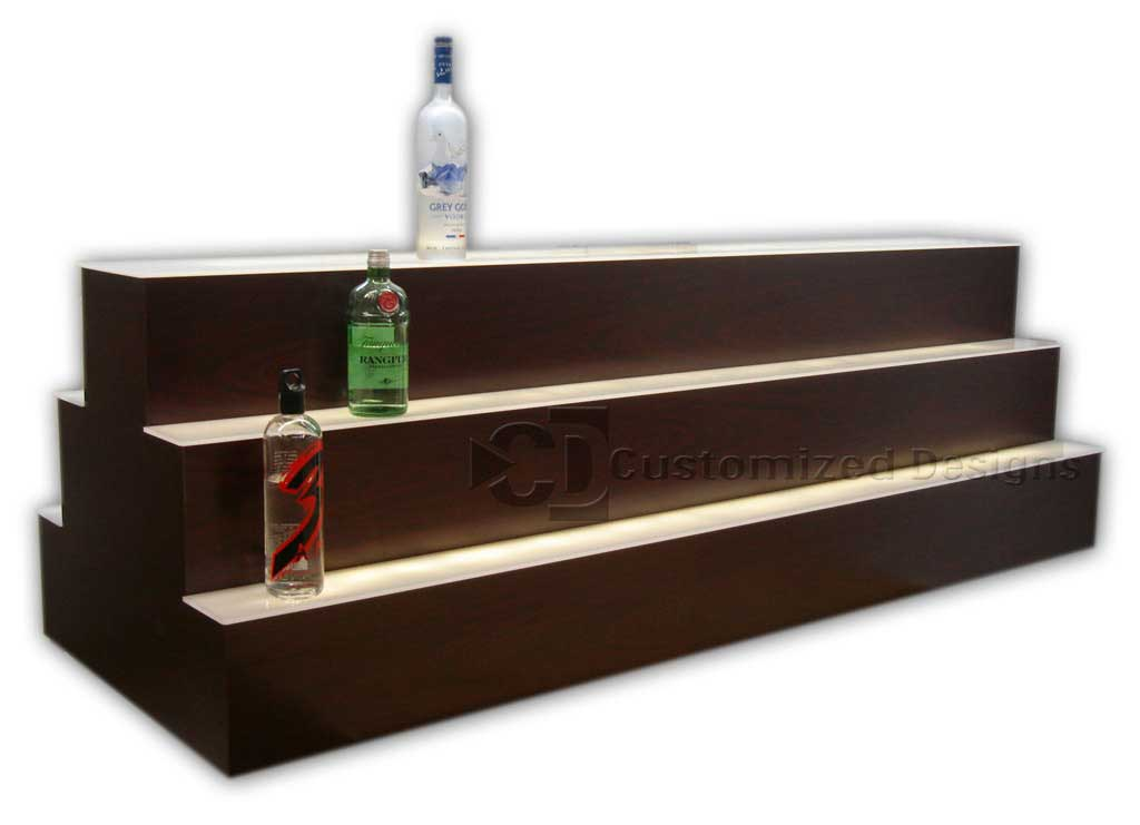 Custom High Profile Two Sided Island Liquor Display