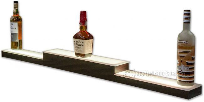 Low Profile Pyramid Style Liquor Shelf