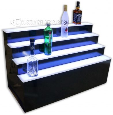 Custom 4 Step Raised Liquor Display