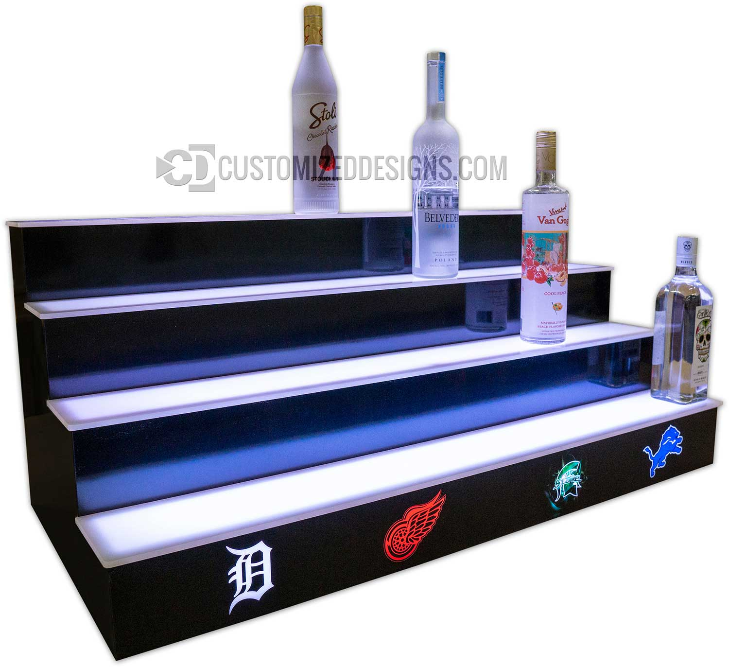 Detroit Sports Teams 4 Tier Bottle Display