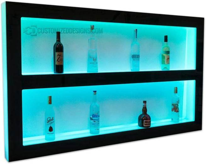 Custom Double Tier Wall Shelving - Contact Us for pricing