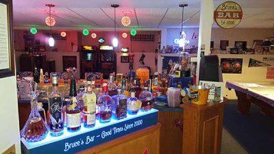 1 Tier LED Liquor Shelves