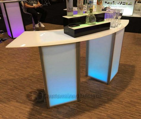 e18 Element Modular Tables w/ Curve Tops
