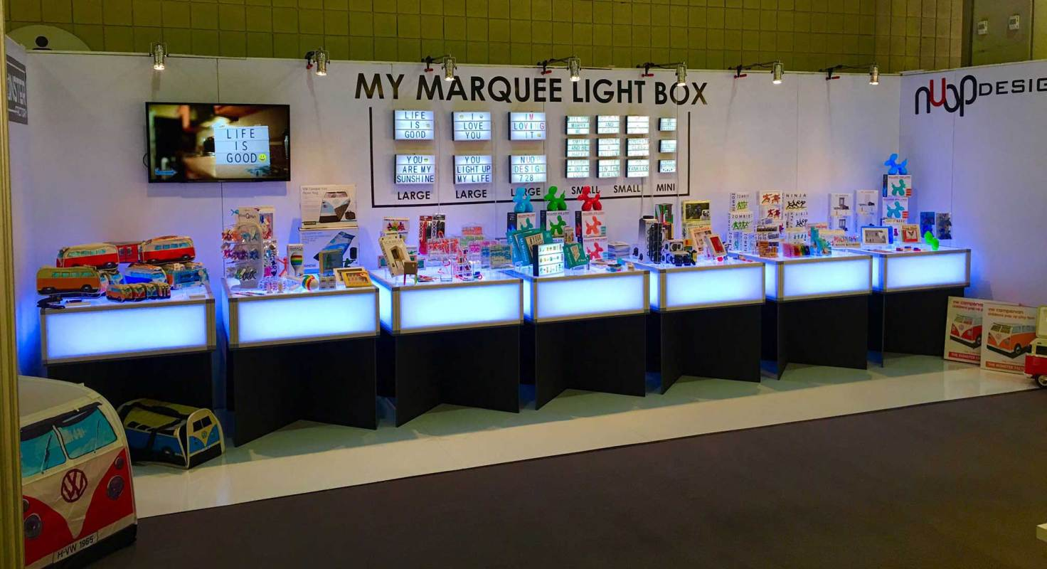Lighted event furniture trade show led tables