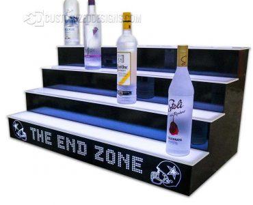 Football Themed 4 Tier Liquor Display w/ Cowboys Helmets