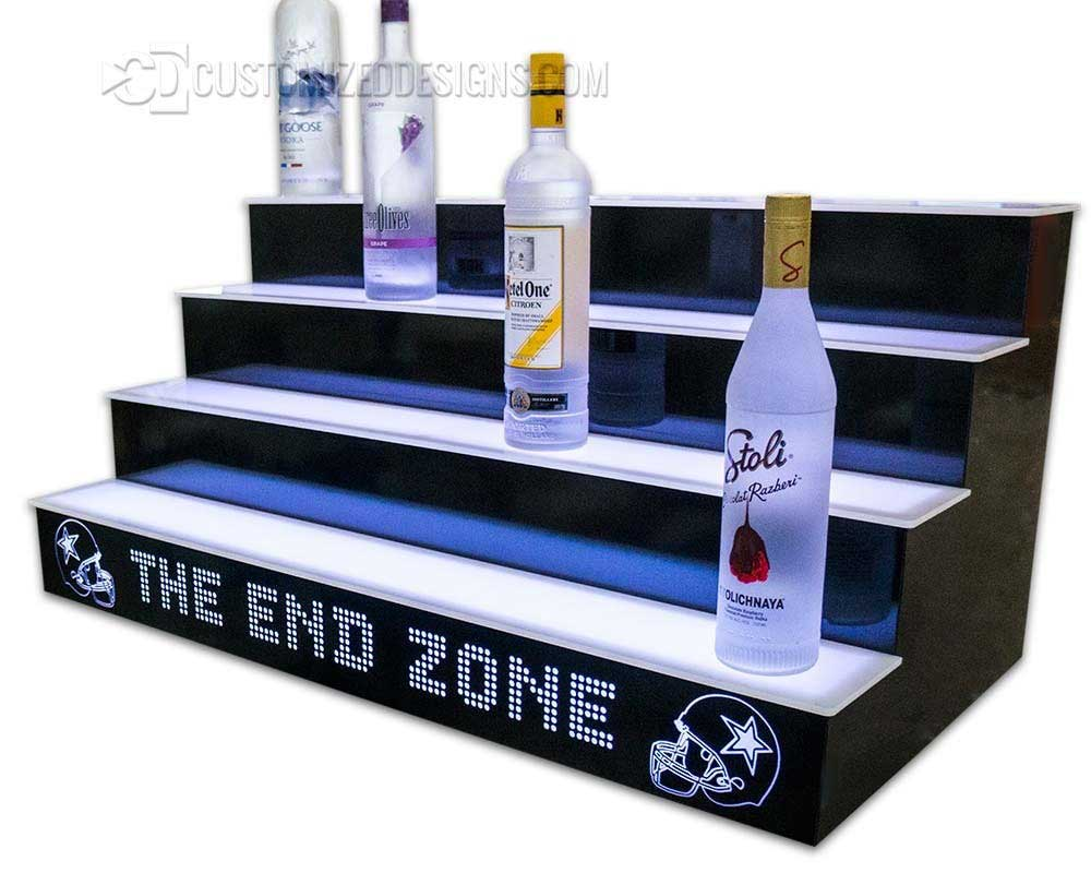 Football Themed 4 Tier Liquor Display w/ Cowboys Helmets