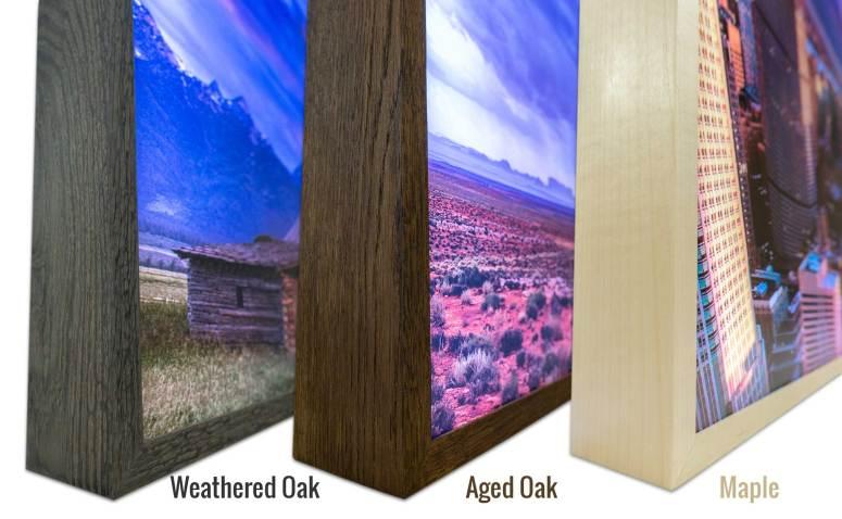 Hardwood Frame Color Options